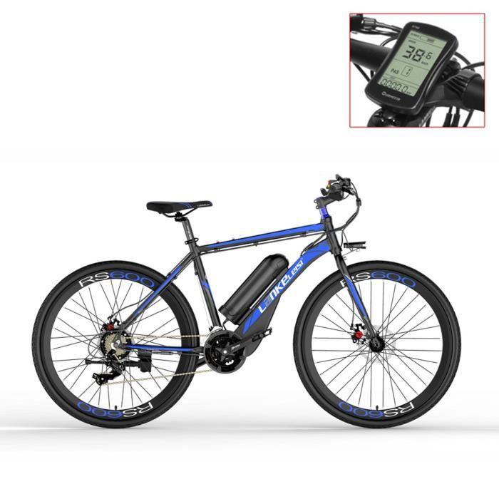 RS600-UP 700C Vélo électrique à assistance pédale, batterie 36V 20Ah, vélo de route à moteur 300W (bleu)