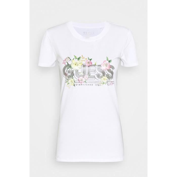 Tee shirt femme Guess W0bi78 - J1300 Twht Blanc