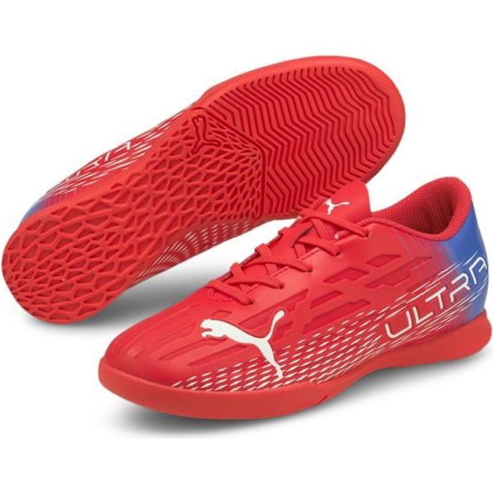 Chaussures de football enfant Puma ULTRA 4.3 IT - rose flash/blanc/bleu roi - 35