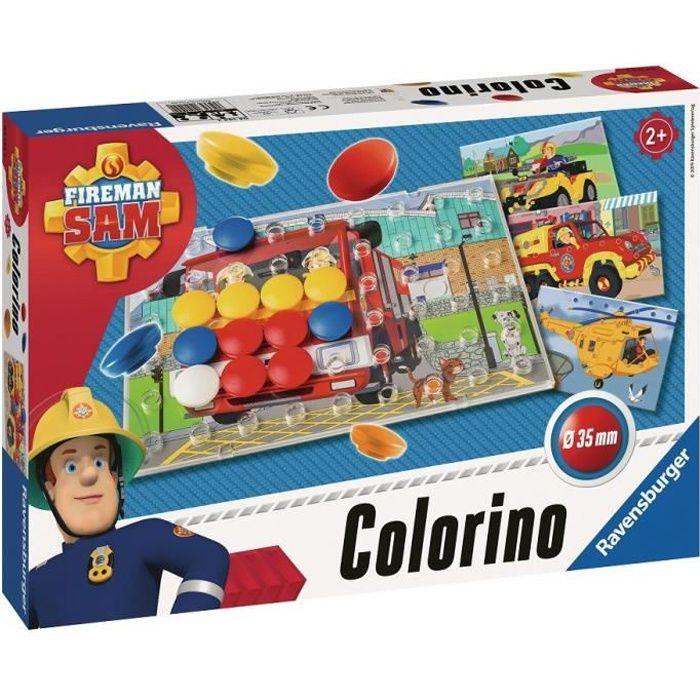 RAVENSBURGER Jeu éducatif Colorino Sam le Pompier - 2 ans et +