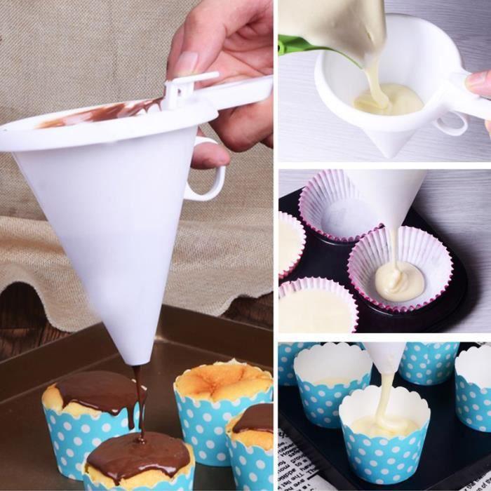 Entonnoir réglable de crème de pâtisserie de pâte de chocolat pour la cuisson des outils de cuisine de décor de gâteau