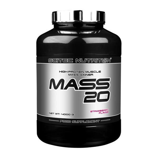 Mass 20 4Kg Scitec Nutrition FRAISE - Proteine Gainer
