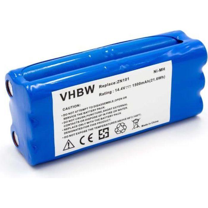 vhbw NiMH batterie 1500mAh pour robot aspirateur Dirt Devil M606-2, M606-3, M606-4, M607