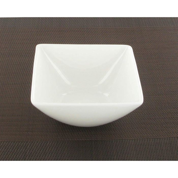 Bol carr blanc fine bone china a table achat vente ramequin ravier - Vente privee carre blanc ...