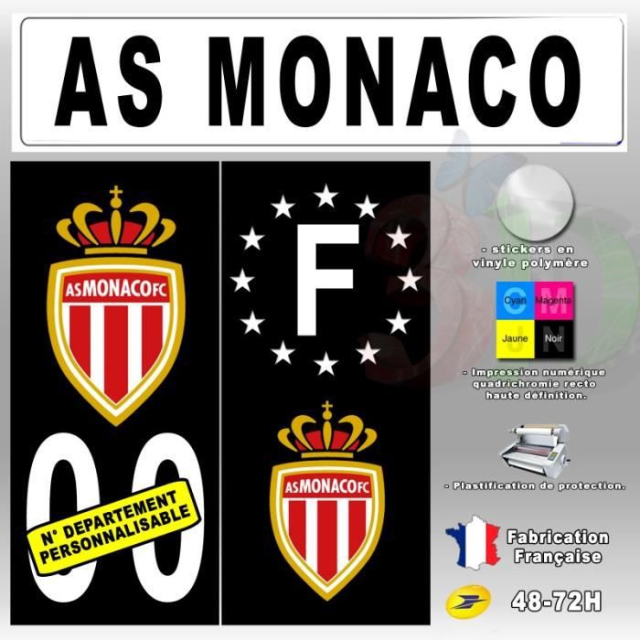 stickers plaque d 39 immatriculation 39 as monaco 39 auto moto. Black Bedroom Furniture Sets. Home Design Ideas