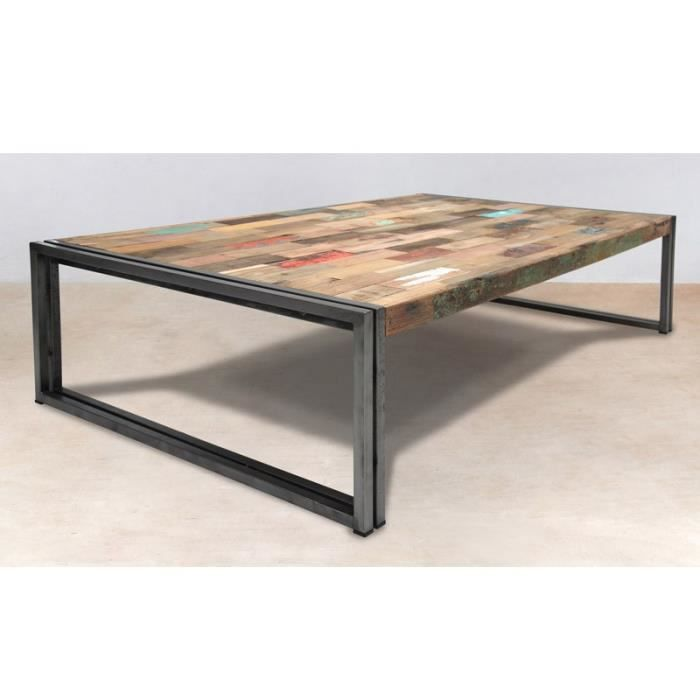 Table basse rectangle 140 cm industry achat vente - Table industrielle pas cher ...