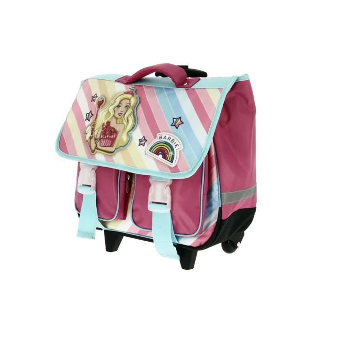 CARTABLE Cartable à roulettes fille Barbie et sa licorne 1