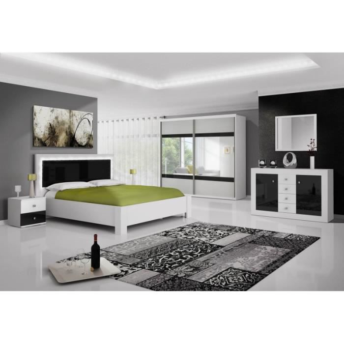 chambre adulte complet blanc laquee achat vente chambre adulte complet blanc laquee pas cher. Black Bedroom Furniture Sets. Home Design Ideas