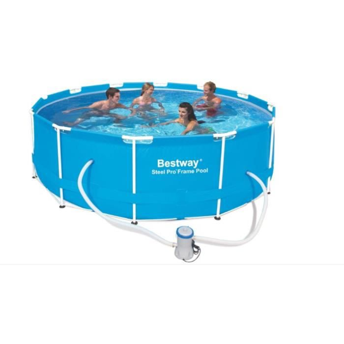 Piscine tubulaire ronde steel frame pool 366 x achat for Piscine tubulaire occasion