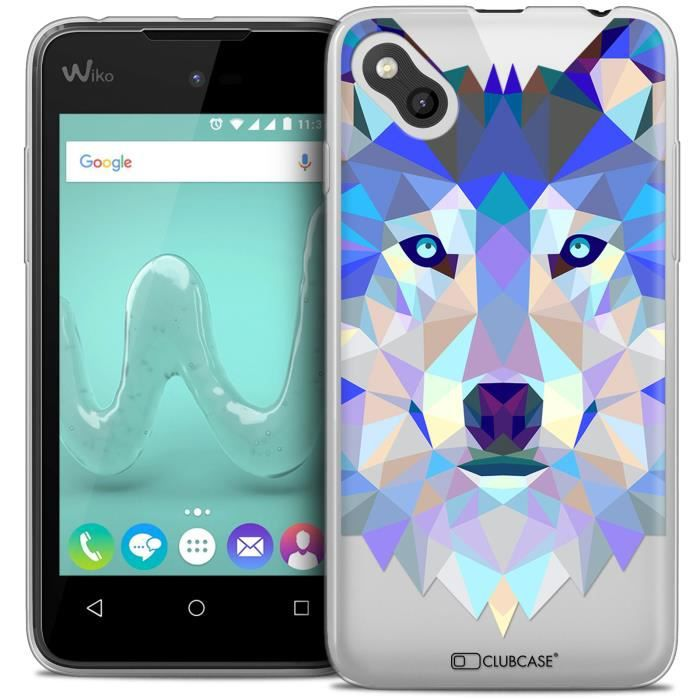 Coque gel wiko sunny extra fine polygon animals loup for Wiko sunny coque