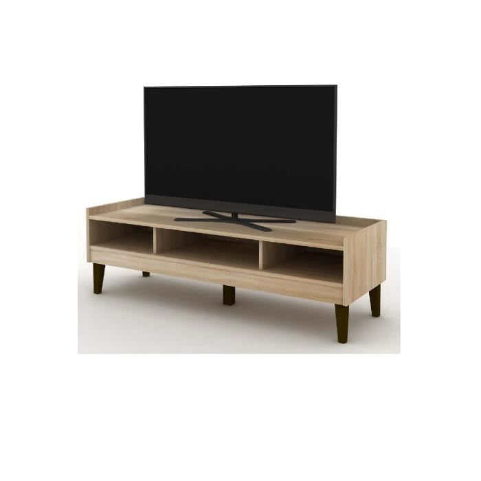 meuble tv en bois camilla ch ne clair achat vente meuble tv meuble tv en bois camilla c. Black Bedroom Furniture Sets. Home Design Ideas
