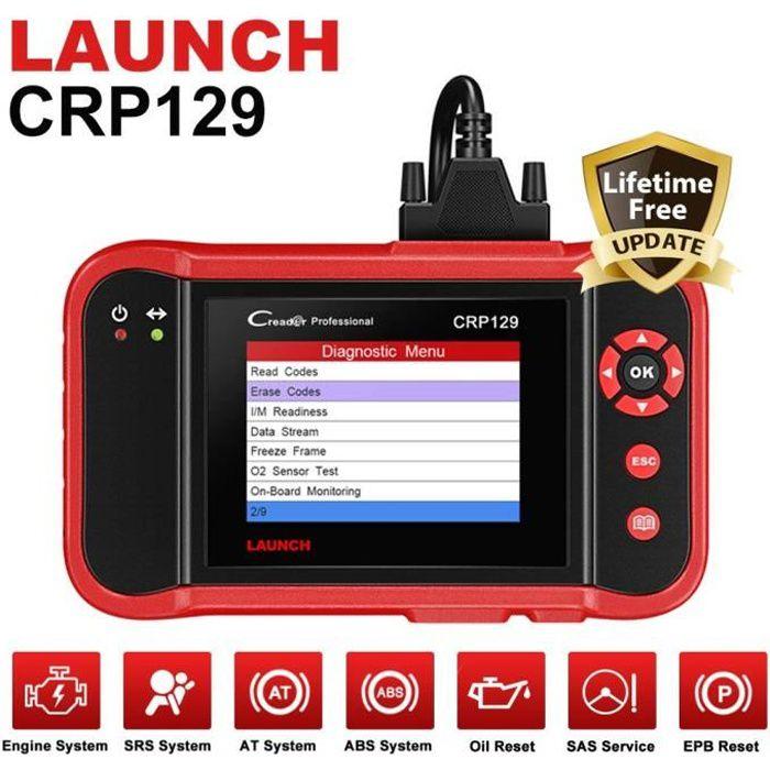 OUTIL DE DIAGNOSTIC Launch CRP129 OBD2 Scanner Valise Diagnostic Auto