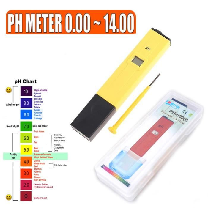 Ph metre testeur calibration pour piscine eau achat for Testeur eau de piscine