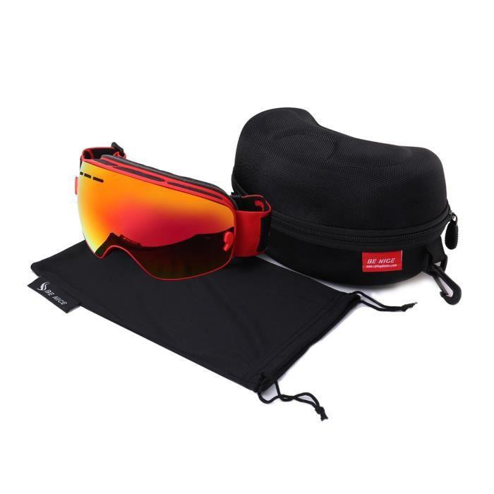 LUNETTES DE MONTAGNE Lunettes de ski homme femme UV400 anti-buée coupe-