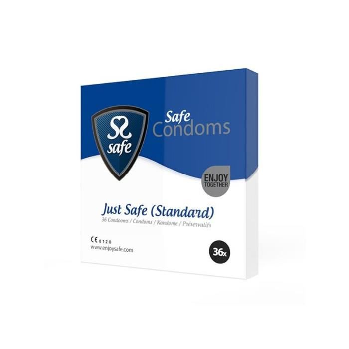 PRÉSERVATIF Préservatifs Just Safe Standard 36 pcs Safe 20442