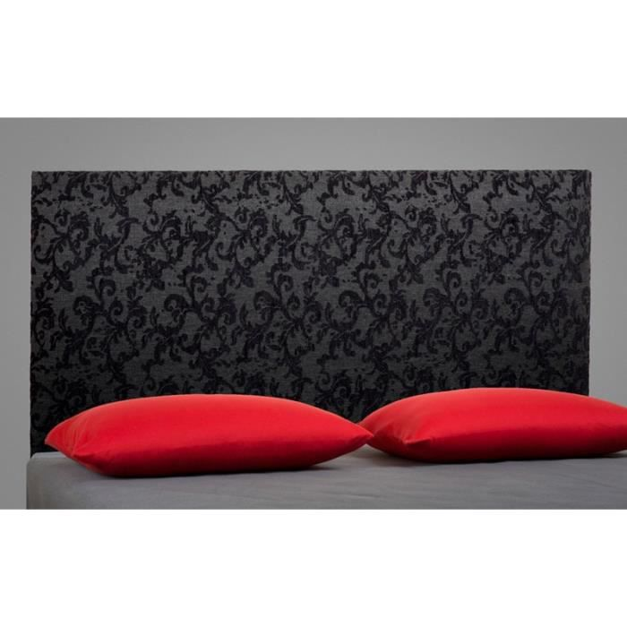 t te de lit barok noire 140cm achat vente t te de lit. Black Bedroom Furniture Sets. Home Design Ideas