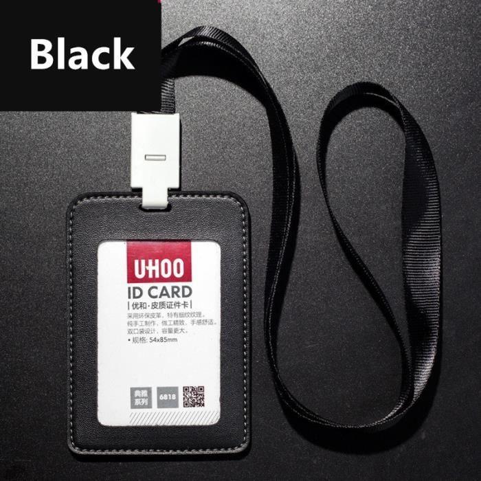 Cuir Carte De Crédit ID carte de bus Support Housse Noir