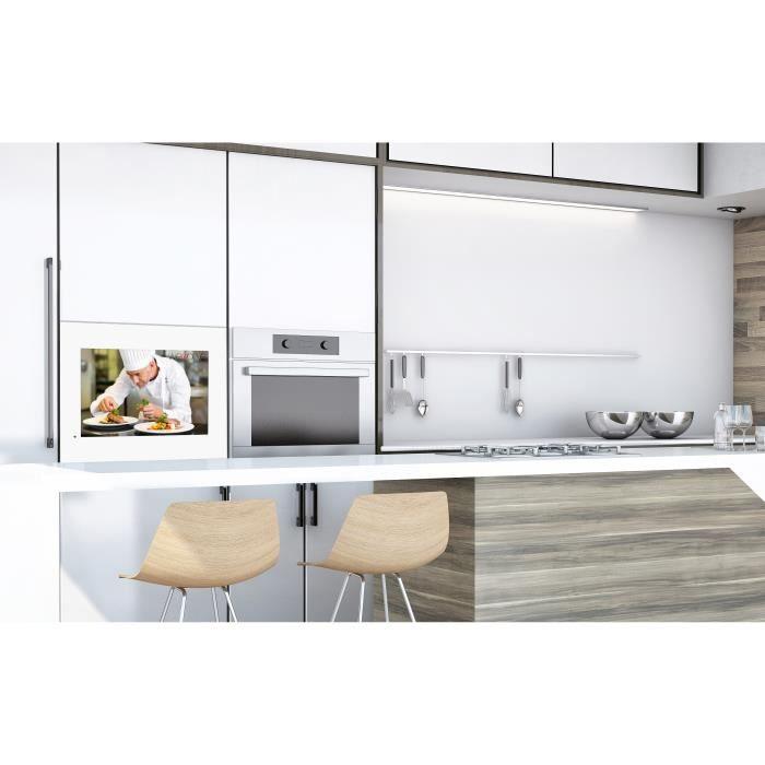 Tv Encastrable Hevc Cuisine Etanche Cadre Blanc 54 Cm 21 5