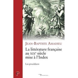 LITTÉRATURE FRANCAISE La littérature française au XIXe siècle mise à l'i