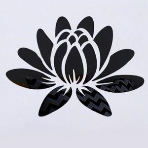 vinyle noir fleur de lotus amovible imperm/éable sticker mural autocollant pour la d/écoration maison chambre salon
