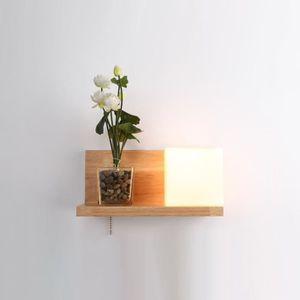 APPLIQUE  Lampe de chevet en bois massif applique murale LED
