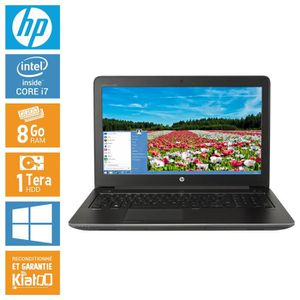 ORDINATEUR PORTABLE HP ZBOOK 15 core i7 8 go ram 1 To disque dur , ord