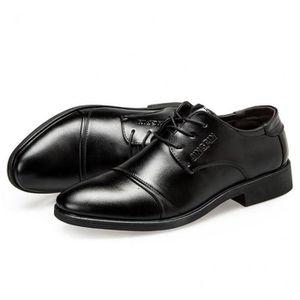 J BRADFORD homme en cuir élégant Semelle Bout Carré Richelieu à formel bureau//Chaussures Noir