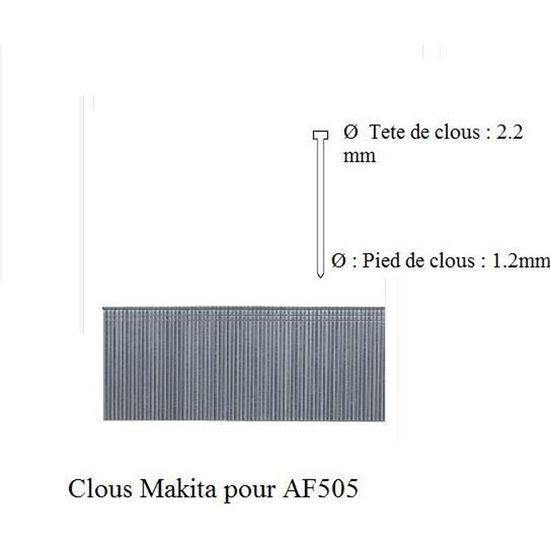 Lot de 5000 clous pour cloueuse Longueur 30 mm