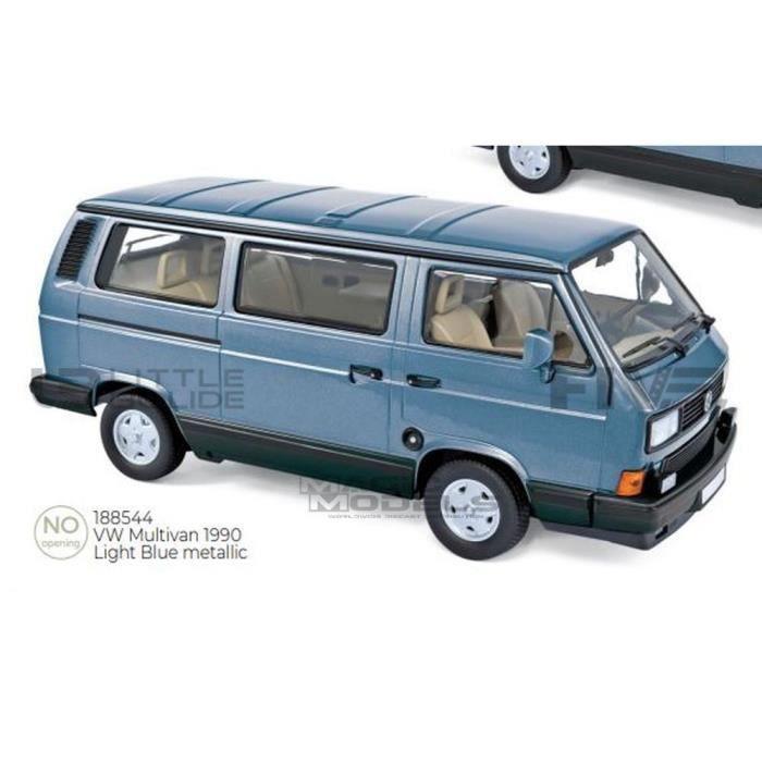 Voiture Miniature de Collection - NOREV 1/18 - VOLKSWAGEN Multivan - 1990 - Blue - 188544