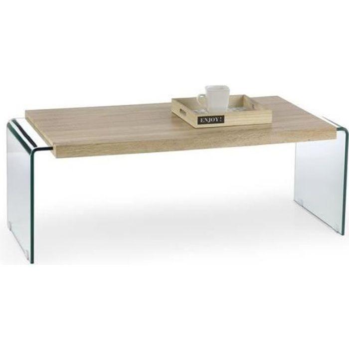 Table Basse Verre et bois GLORI