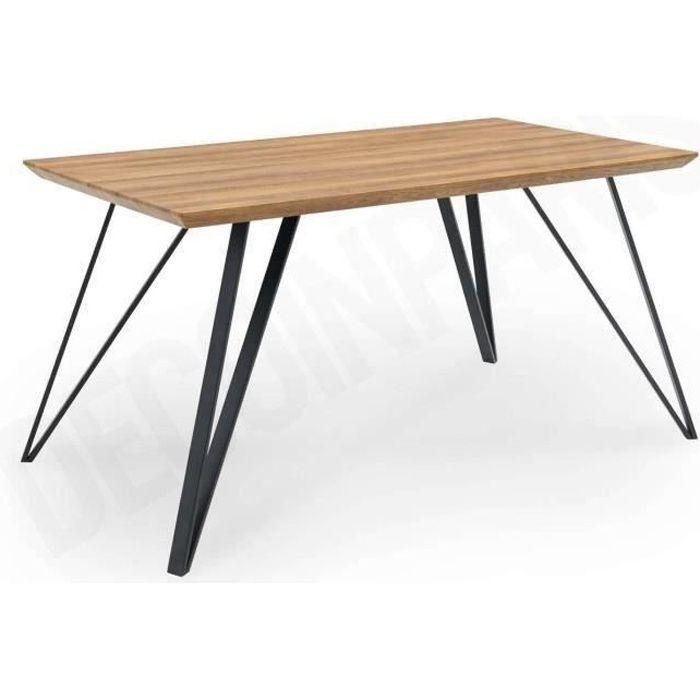 Table à manger design en bois KEVAN