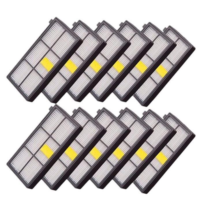 JAC1 12 pcs haute qualité Hepa brosse filtre remplacement pour Irobot Roomba 800 900 série 870 880 980 pièces d'aspirateur
