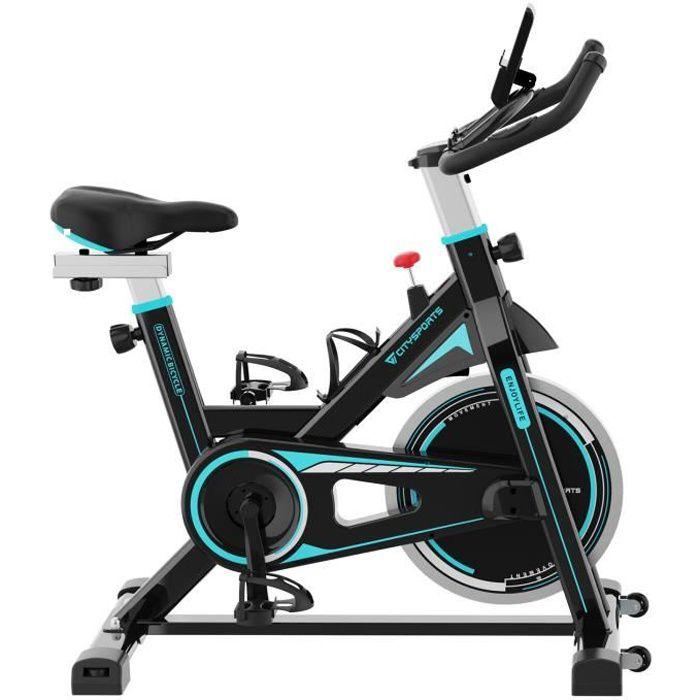 CITYSPORTS Vélo d'Appartement Résistance Réglable avec Écran LCD, Vélo d'exercice Intérieur Fitness Bikes Silencieux