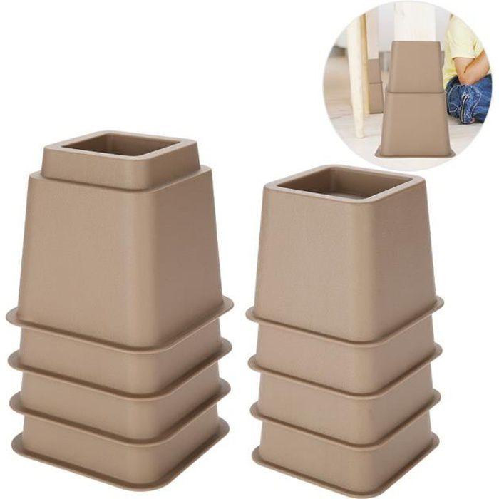 Drfeify Elevateur Réhausseur DE MEUBLE CHAISE Pied Riser Jambe de meubles de Lit Tableau Bureau Canapé sofa Accessoires de Funiture
