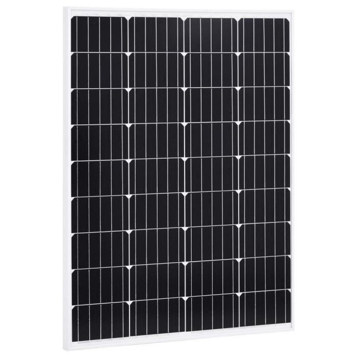 Panneau solaire 100W Monocristallin Aluminium Verre de sécurité