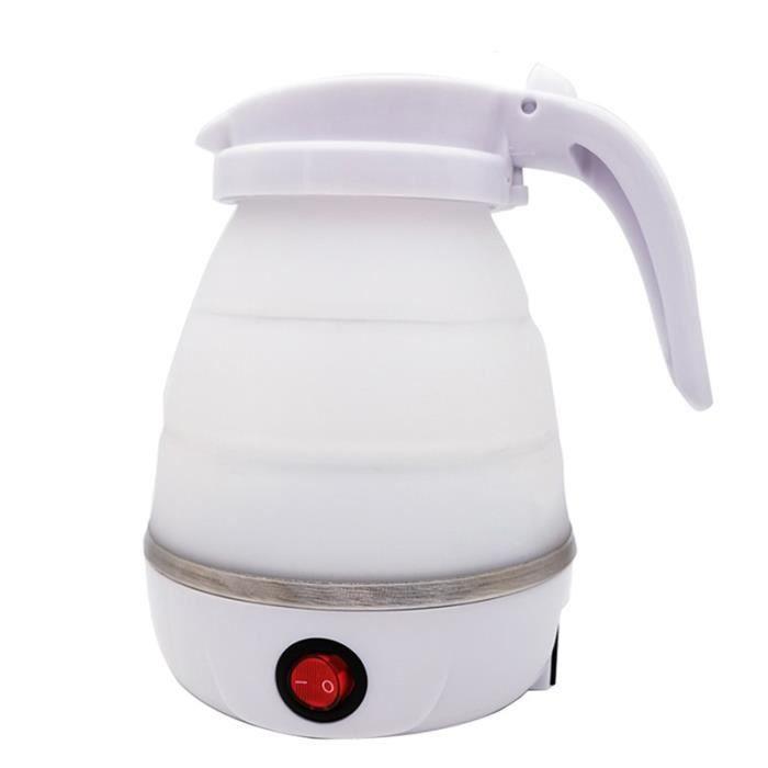 Carafes d'eau,Bouilloire électrique pliable en Silicone pour voyage et camping,chaudière à eau Portable à - Type WHITE-EU Plug