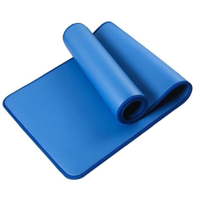 Tapis de yoga épais Fitness Gym Yoga Mat antidérapante Mat NBR Pad Bordures pour le sport bleu exercice Gymnastic