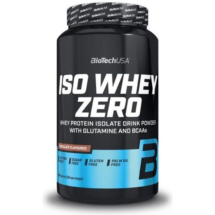 Iso Whey Zero 908g CHOCOLAT Biotech USA Proteine