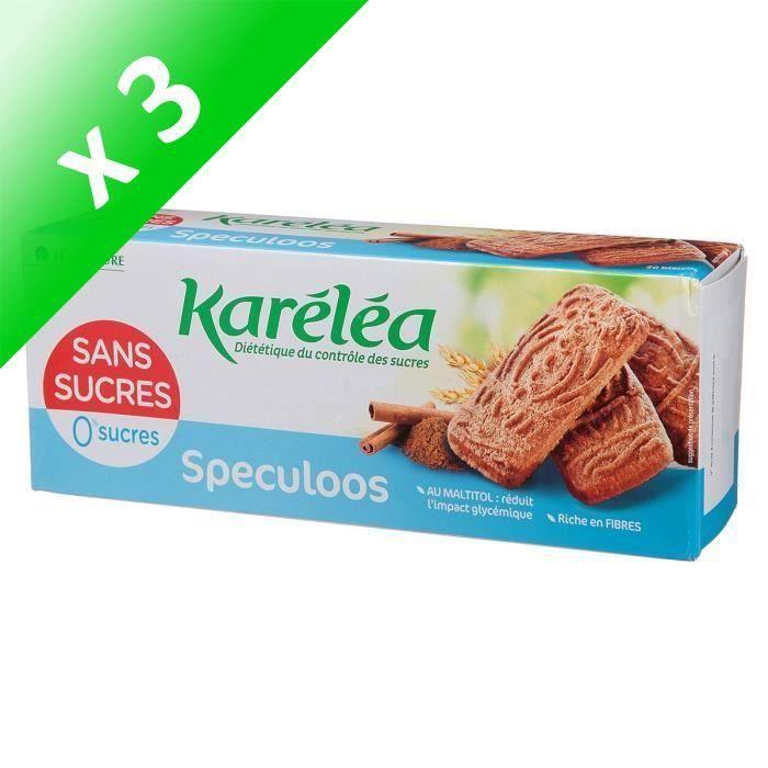[LOT DE 3] KARELEA Spéculos sans sucre - 250 g