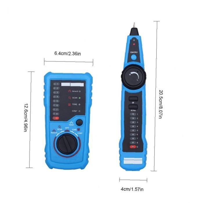 FWT11 Testeur de câble Tester Finder Wire Tracker pour la vérification de la continuité du téléphone de la collecte de réseau
