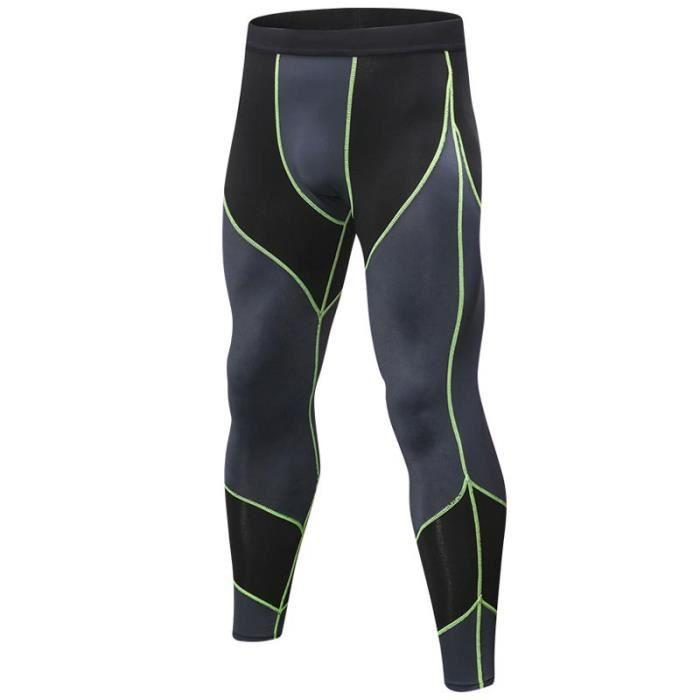 Pantalon de Compression Homme Running de Sport Fitness Musculation Séchage Rapide