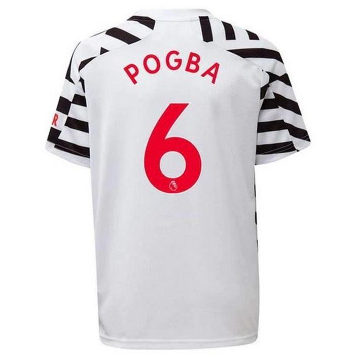 Maillot Adidas Homme Manchester United Third Flocage Officiel Pogba Numéro 6 Saison 2020-2021