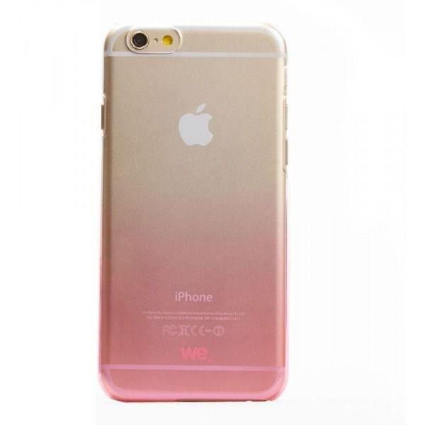 WE Coque rigide pour iphone 6 - Transparente - Dégradé de rose