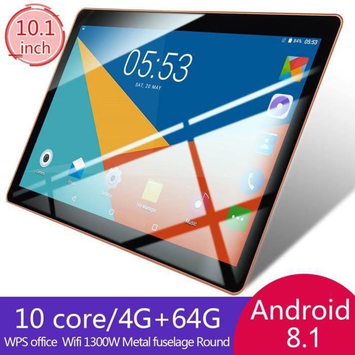 10.1- Tablette PC Andriod 8.1 1+16G 10 core Double SIM Carte - noir