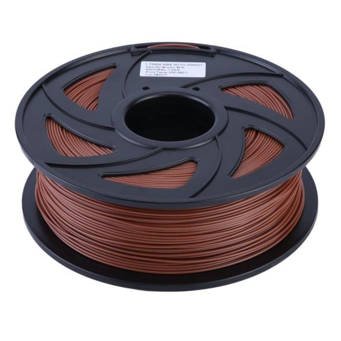Filament 3D Longueur:260 270 Mètres 1 Kg Filament imprimante 3D Pla 1.75mm Marron