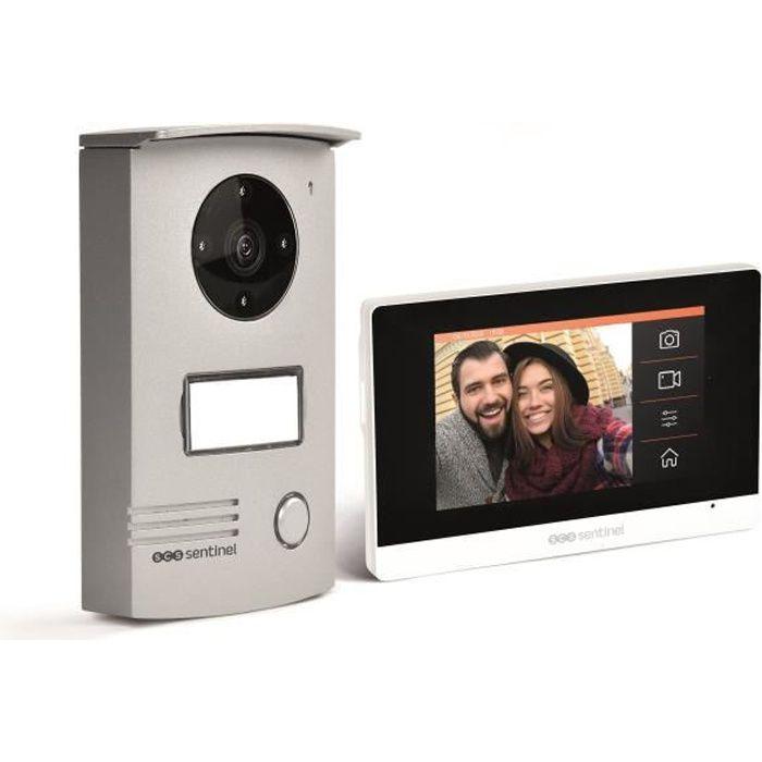 SCS SENTINEL - VisioDoor 4.3+ - Interphone vidéo filaire avec moniteur extra plat tactile 4,3-