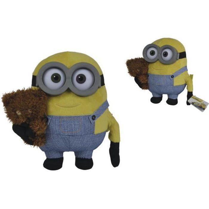 Les Minions - Peluche Minions Bob + Doudou