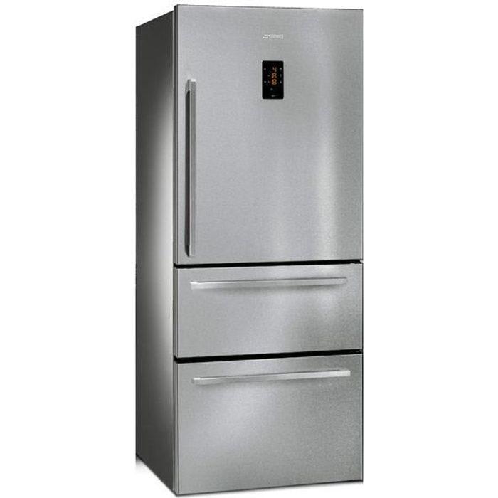SMEG - Réfrigérateur Américain FT41BXE (FT 41 BXE) Inox Anti-trace