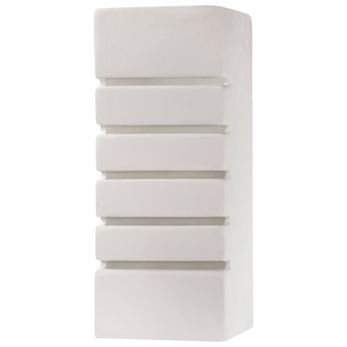 Applique Murale Céramique SAMIR E27 Lampe Murale Moderne BOHO Design Couloir - Blanc