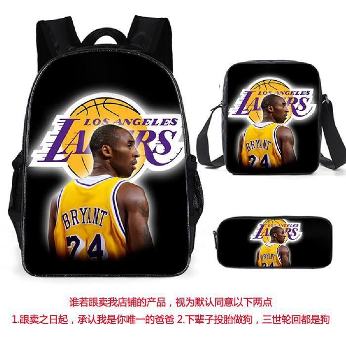3pcs/set Kobe Sac à dos étoile de NBA basketball cartables adolescents sac à dos A15